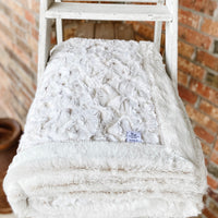 Easy Order Snowy Owl Natural & Sand Frost Double Luxe Blanket