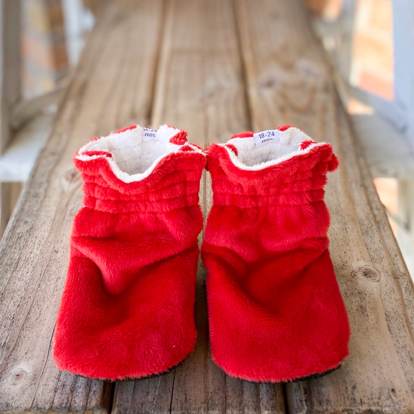 Ruby Minky Booties