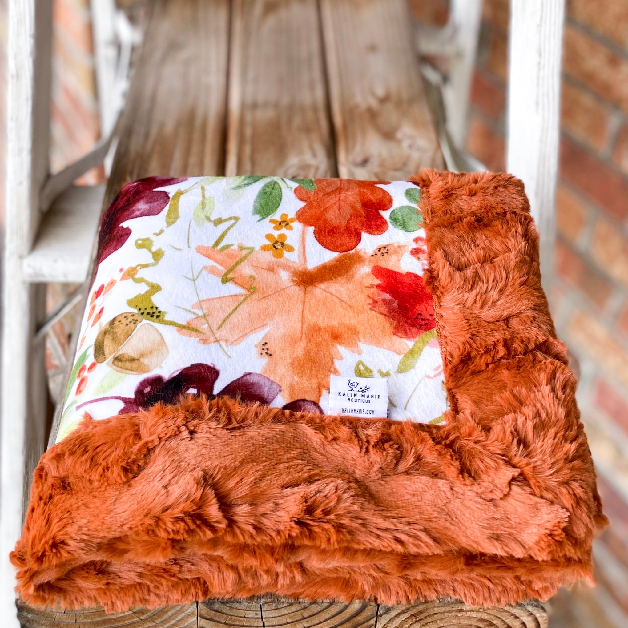 Easy Order Autumn Leaves Harvest Luxe Snuggle Blanket