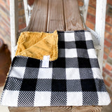 RTS B&W Buffalo Plaid Luxe Snuggle Loveys