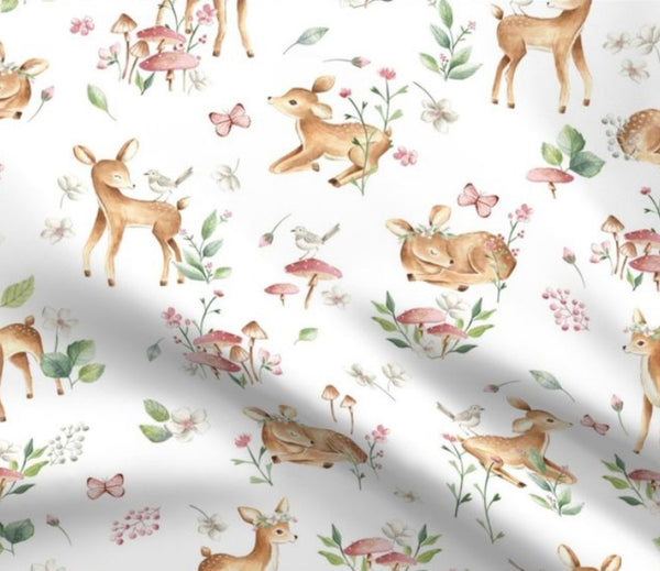 Limited Edition Spoonflower Baby Deer Minky Luxe Blanket Custom Order