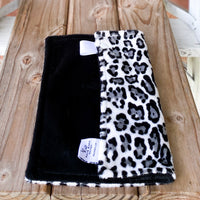 RTS Smooth Snow Leopard & Smooth Black Luxe Snuggle Loveys