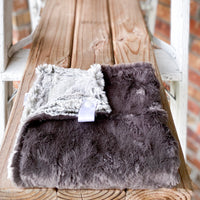 RTS Pewter Marble & Silver Fox Double Luxe Lovey