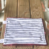 RTS Limited Edition Grey & White Stripes Luxe Snuggle Lovey