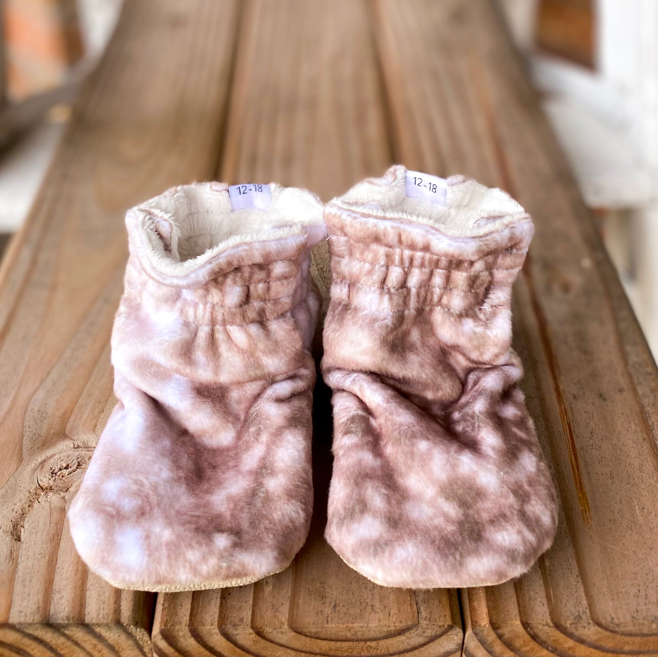 RTS New Fawn Booties Minky Booties
