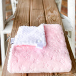 RTS Blush Embossed Stars & Snow Spa Coud Loveys & Blankets