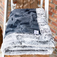 RTS Iron Hide & Silver Fox Luxe Blanket