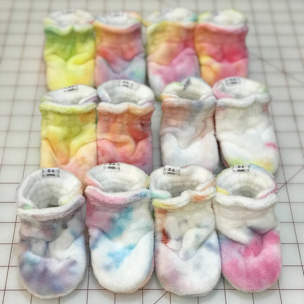 Imperfect RTS Stella Rose Minky Booties