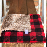 Easy Order Buffalo Check Scarlet Luxe Smooth Minky Lovey