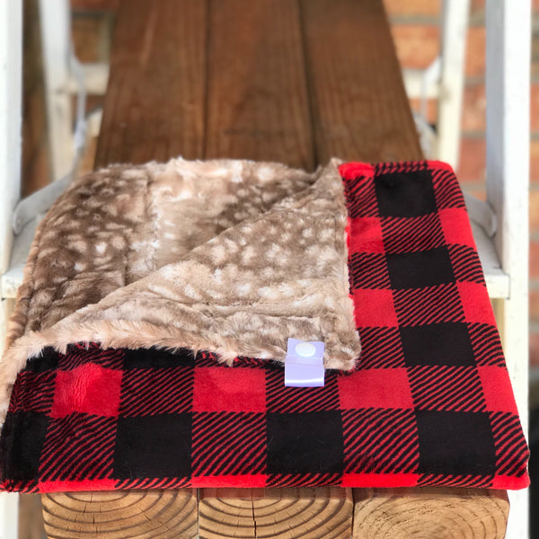 Buffalo Check Scarlet Luxe Snuggle Lovey