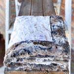 Easy Order Snowy Owl Natural & Wild Rabbit Driftwood Double Luxe Blanket