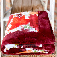 RTS Autumn Leaves Harvest Luxe Snuggle Blankets