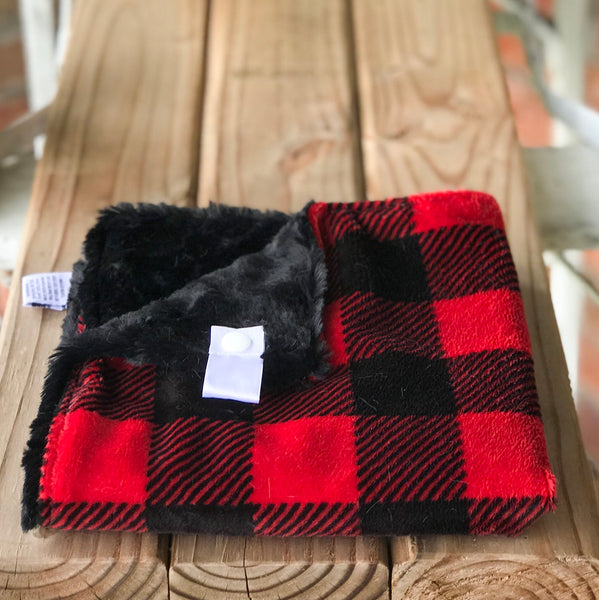 RTS Buffalo Plaid Garnet Luxe Snuggle Lovey