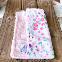 RTS Floral Fields Pink Luxe Snuggle Loveys