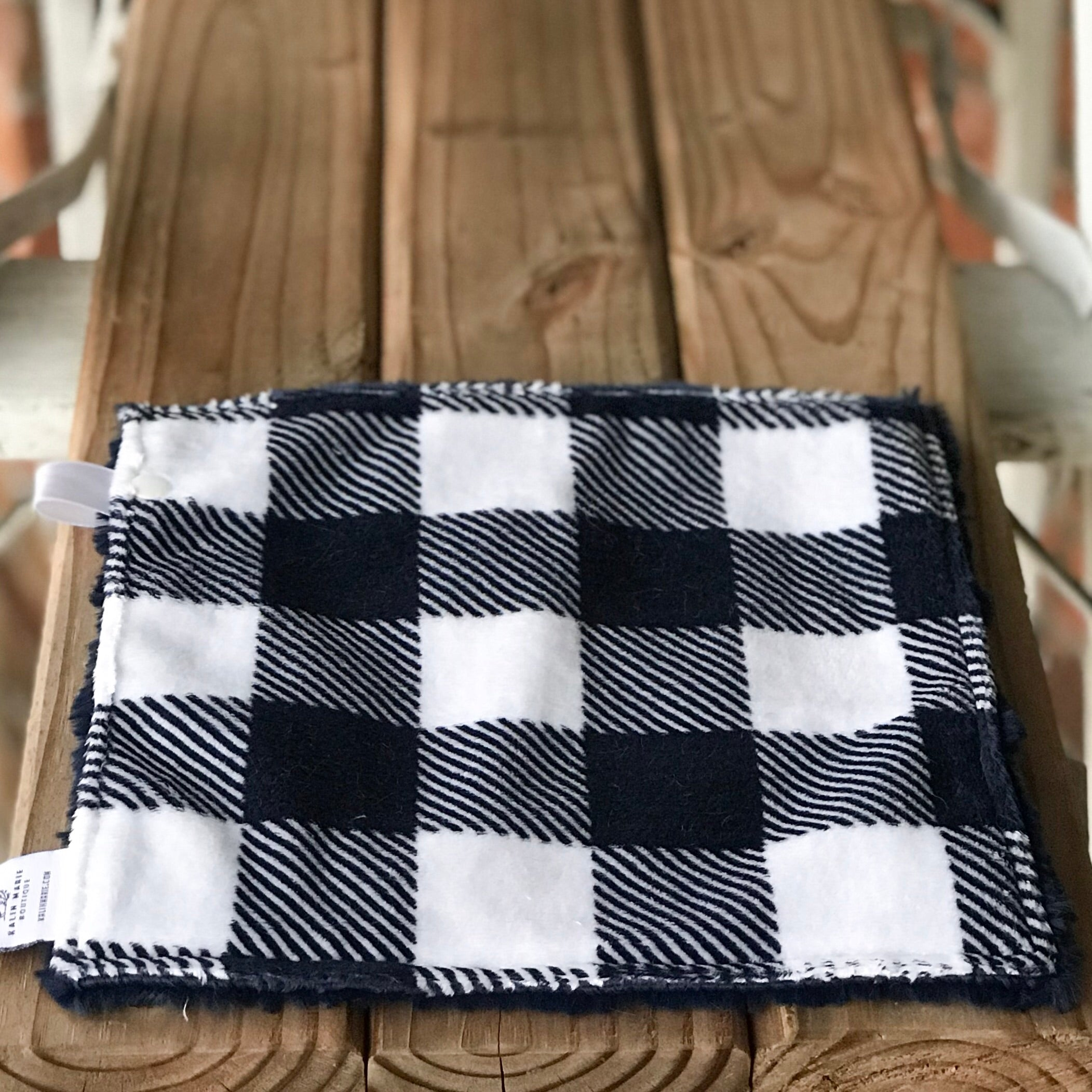 RTS Buffalo Plaid Navy Luxe Snuggle Lovey