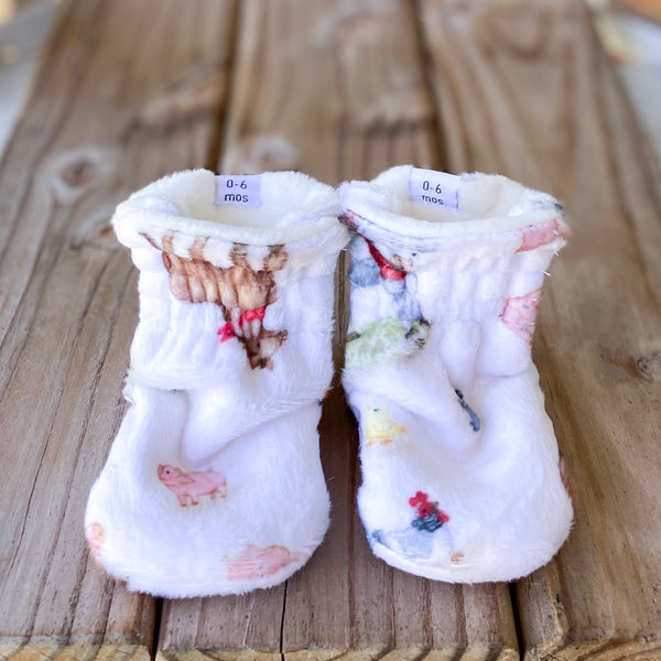Toddler - New MacDonald Limited Edition Minky Booties
