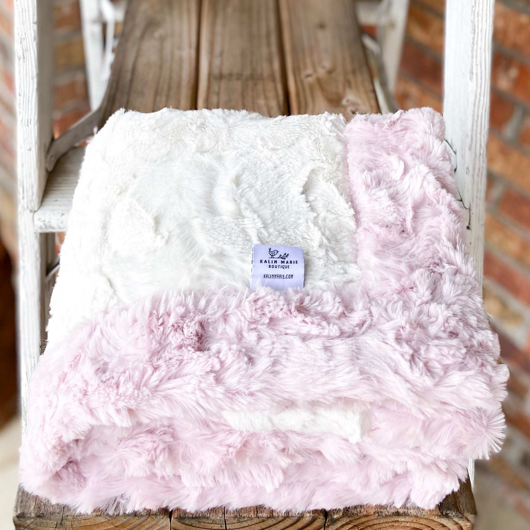 Easy Order Natural Hide & Ice Pink Glacier Double Luxe Blanket