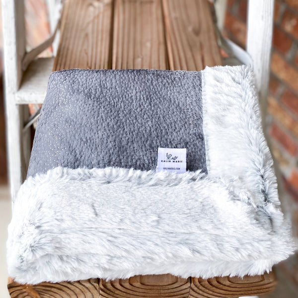 RTS Graphite Sparkle & Silver Frost Double Luxe Blanket