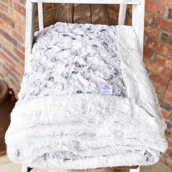 RTS Snowy Owl Alloy & Silver Frost Luxe Blanket