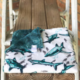 Fintastic Teal Luxe Snuggle Lovey