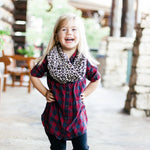RTS New Smooth Chocolate Leopard Toddler & Kids Infinity Scarf