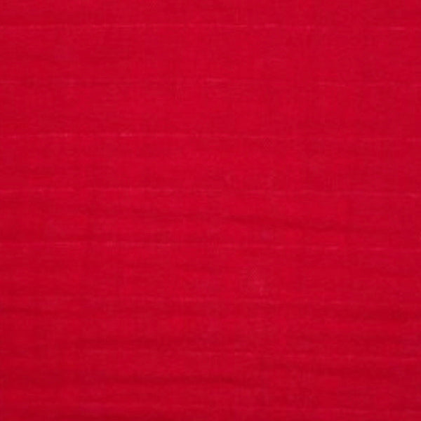 Solid Ruby Red Muslin