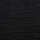 Solid Black Muslin