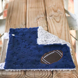 Pre-Selected Color Combos in Football Applique Mini Loveys