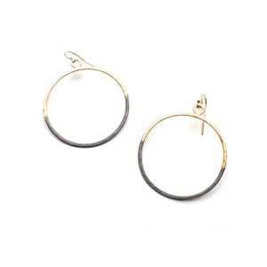 Two tone Bubble Dangle Earrings