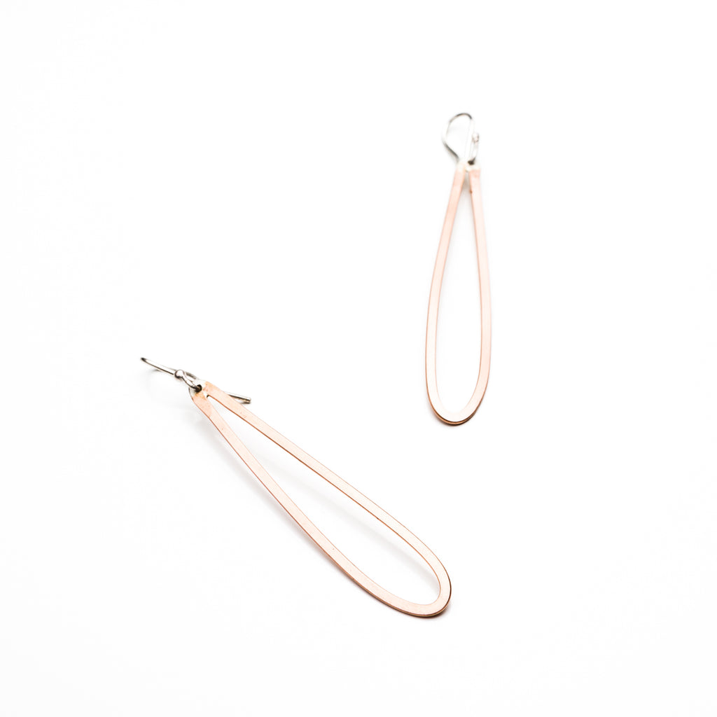Elongated Teardrop Earring