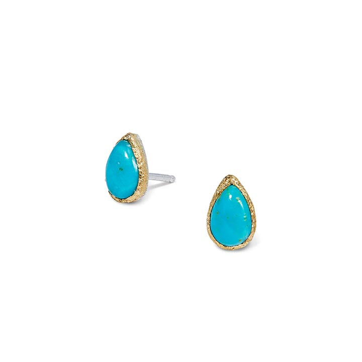 Petal with Turquoise Stud