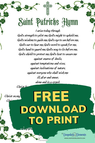 Free Download to Print of Saint Patrick's Prayer