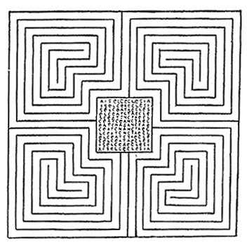 Drawing of the First Christian Labyrinth