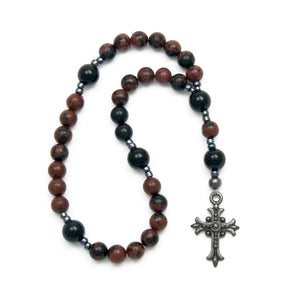 Obsidian Anglican Prayer Beads