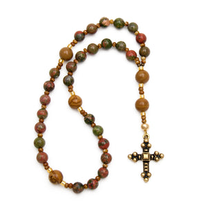 Unakite Anglican Prayer Beads