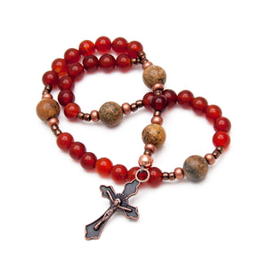 Carnelian Methodist Prayer Beads