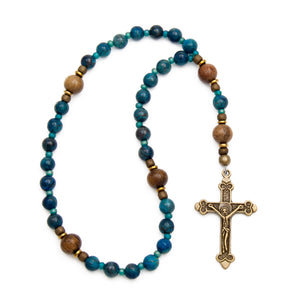 Blue Jasper & Robles Anglican Prayer Beads