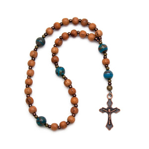 Natural Wood Anglican Prayer Beads