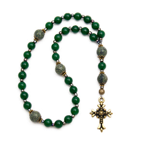 Green Serpentine Anglican Prayer Beads