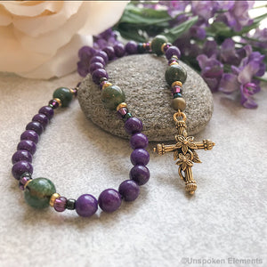 Ladies Purple Anglican Prayer Beads
