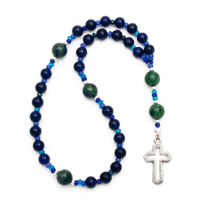 Agate & Azurite Anglican Prayer Beads Rosary