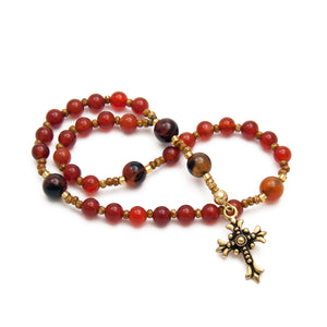 Carnelian and Agate Christian Protestant Prayer Beads