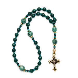 Green Anglican Prayer Beads