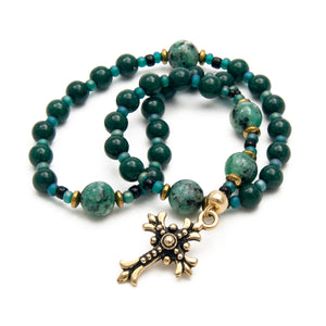 Dolomite & Jasper Protestant Prayer Beads