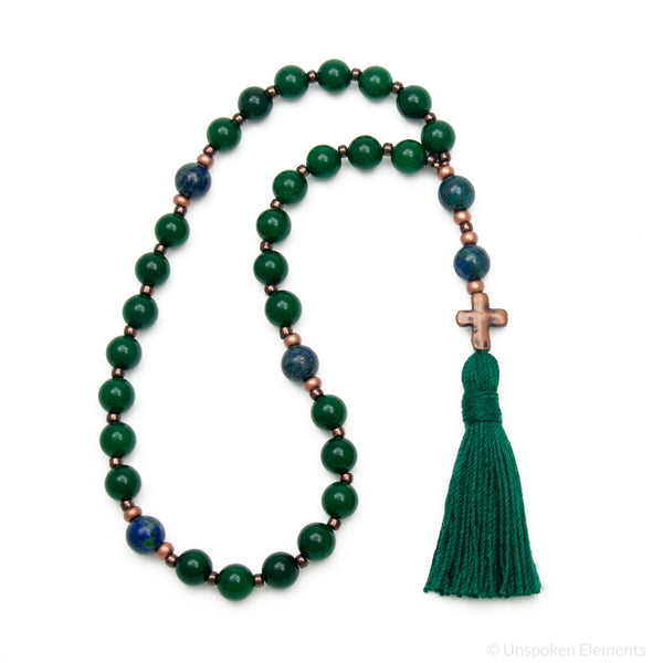 Jade & Azurite Prayer Beads