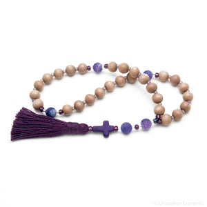 Rosewood & Agate Prayer Beads