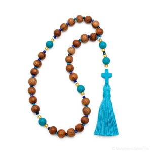 Turquoise & Wood Prayer Beads