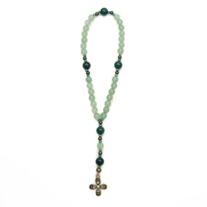 Green Aventurine Anglican Prayer Beads by Unspoken Elements