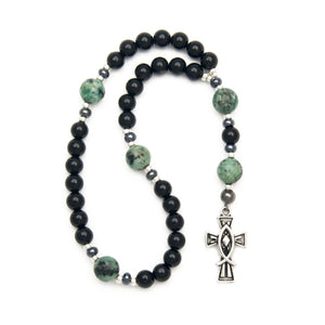 Onyx & Turquoise Anglican Prayer Beads by Unspoken Elements