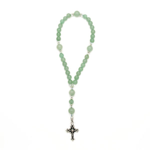 Green Aventurine Anglican Rosary by Unspoken Elements